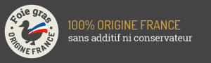 100% origine France - sans additif ni conservateur