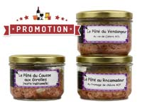 Lot de pâtés<br>tradition du Quercy - 540 gr