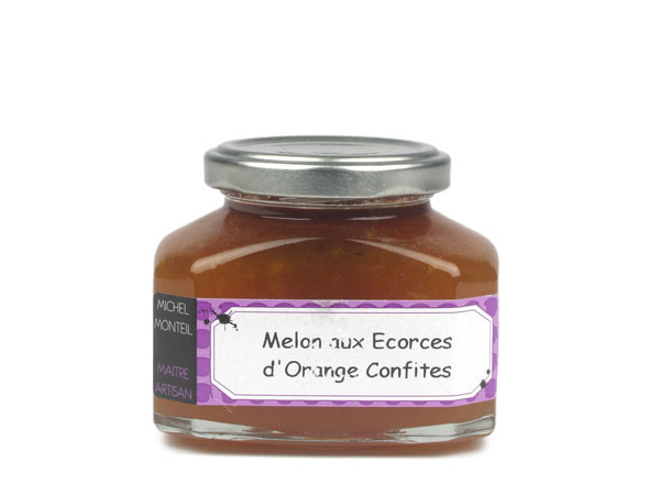 Melon aux écorces d'orange confites - 235 gr