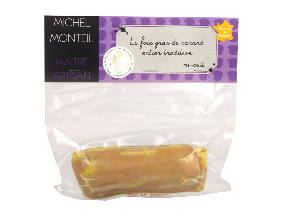 foie gras de canard entier mi cuit poch sous vide 200 gr conserverie du hameau des saveurs. Black Bedroom Furniture Sets. Home Design Ideas