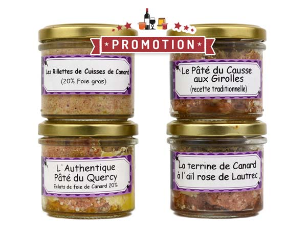 Lot de pâtés<br>tradition - 400 gr